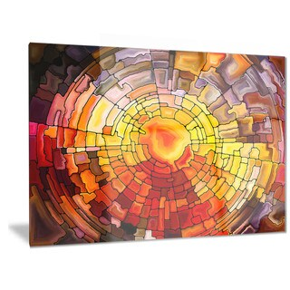 Designart 'Return of Stained Glass' Contemporary Metal Wall Art