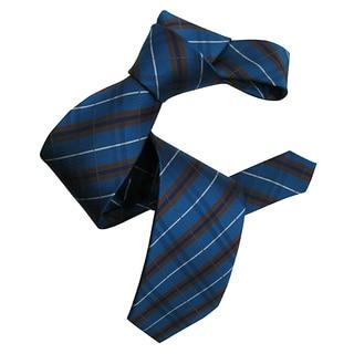 Dmitry Men's Teal Patterned Italian Silk Neck Tie