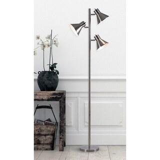 Poplar Brushed Steel 64-inch Tree Lamp