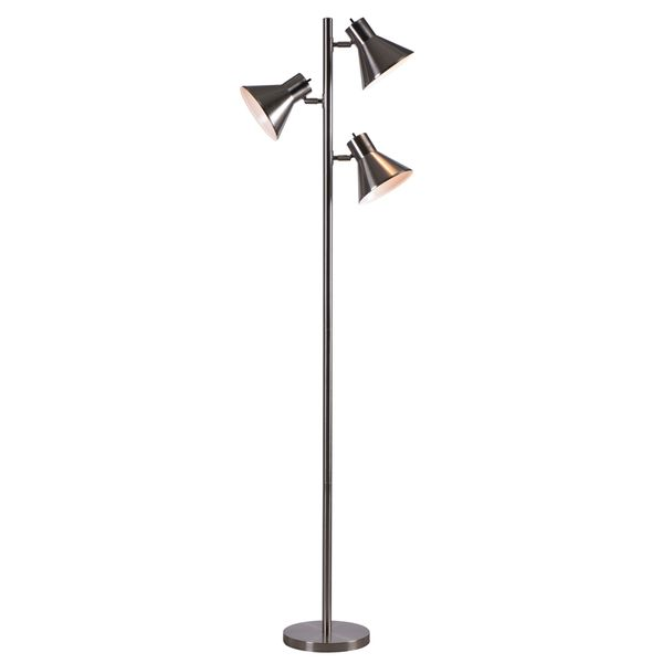 Design Craft Poplar Brushed Steel 64-inch Tree Lamp