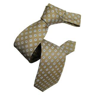 Dmitry Men's Italian Sand Patterned Silk Tie