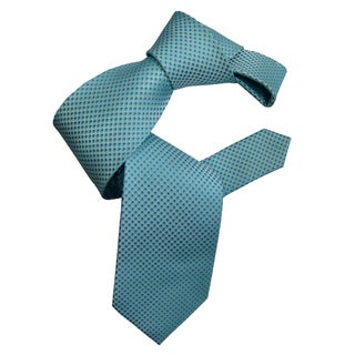 Dmitry Men's Teal Italian Silk Patterned Neck Tie