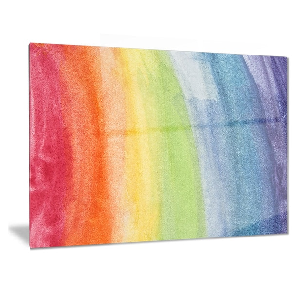 Designart \'Flowing Rainbow Colors\' Abstract Metal Wall Art - Free ...