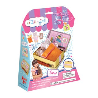My Studio Girl Make-Your-Own Travel Buddies Bear Sewing Kit