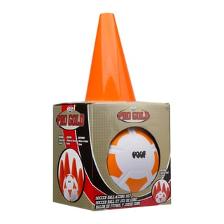 Pro Gold Soccer Ball & Cone Set