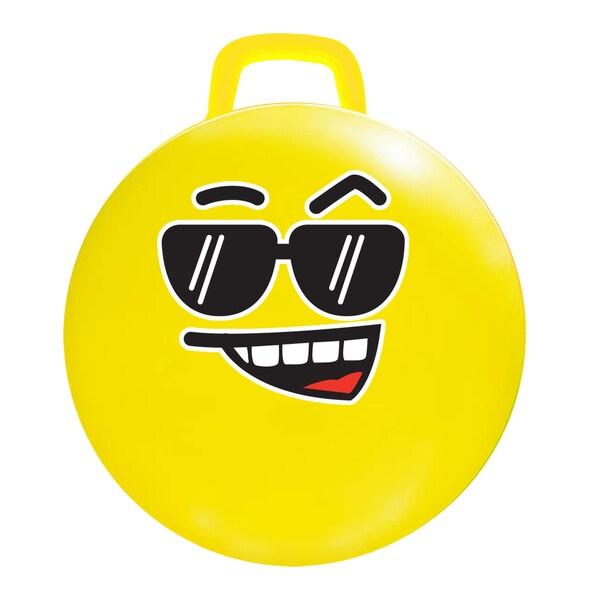 MegaFun USA 18-inch Yellow Cool Emoji Hop Hop Jumping Ball