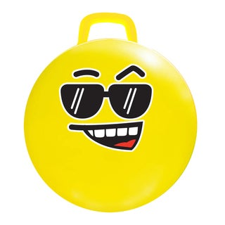 MegaFun USA 18-inch Yellow Cool Emoji Hop Hop Jumping Ball