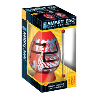 Smart Egg Difficult Red Dragon 2-layer Labyrinth Puzzle