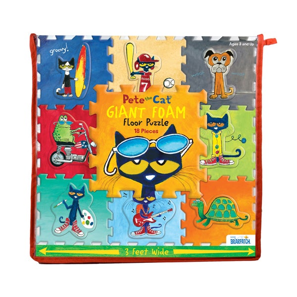 Pete the Cat 18-piece Giant Foam Floor Puzzle - multi