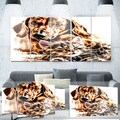 Designart 'Best Buddies' Cat & Dog Metal Wall Art