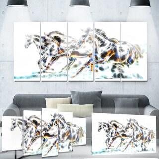 Designart 'Wild Horses' Metal Wall Art
