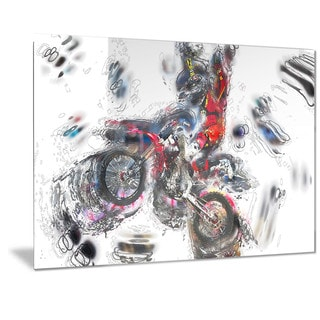 Designart 'Moto Cross Sports Metal Wall Art