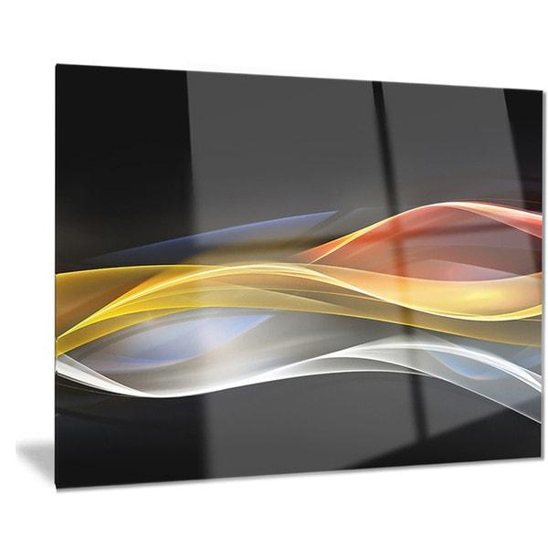 Home Design 3d Gold: Shop Designart '3D Gold Silver Wave Design' Abstract