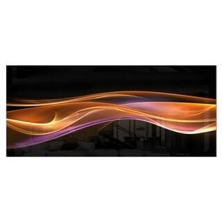Designart '3D Gold Pink Wave Design' Abstract Digital Art Metal Wall Art