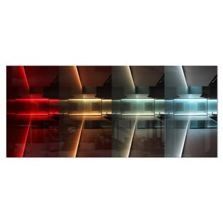 Designart 'Kitchen with LED Lighting' Abstract Digital Art Metal Wall Art