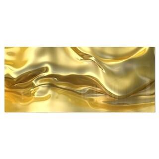Designart 'Golden Cloth Texture' Abstract Digital Art Metal Wall Art