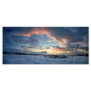 Designart 'Dark Winter Sky' Landscape Photography Metal Wall Art