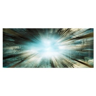 Designart 'Light From Sky' Abstract Digital Art Metal Wall Art