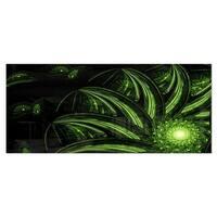 Designart 'Strange Green Flower' Floral Digital Art Metal Wall Art