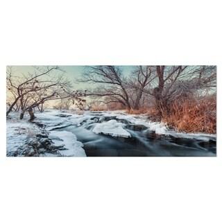 Designart 'Ukraine Winter Forest' Landscape Photo Metal Wall Art