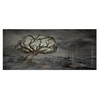 Designart 'Burden of Life' Abstract Digital Art Metal Wall Art