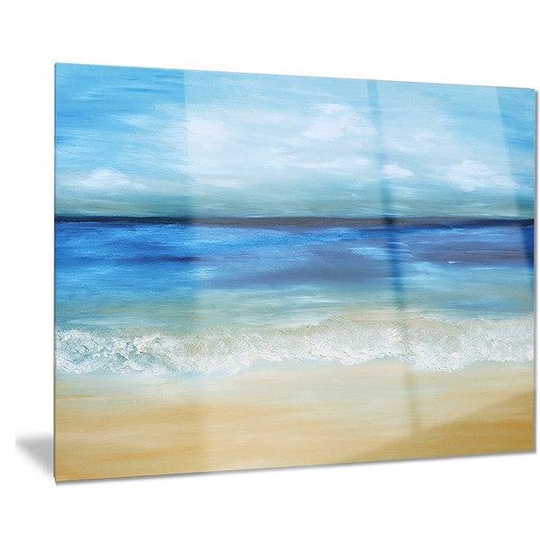 Shop Designart \'Warm Tropical Sea and Beach\' Seascape Painting Metal ...