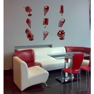 Other ice cream Wall Art Sticker Decal Red