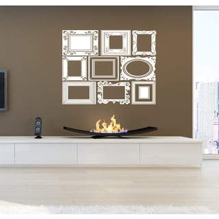 Collage of frames for photos Wall Art Sticker Decal White