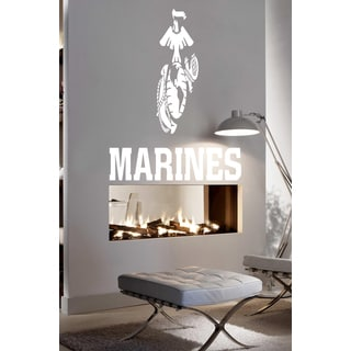 American Marines eagle Wall Art Sticker Decal White