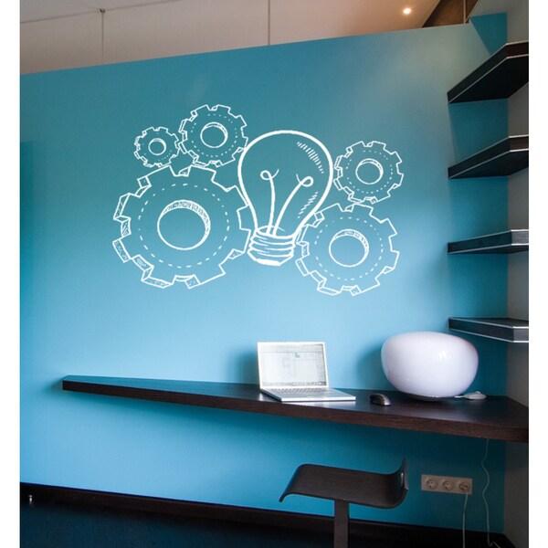 Light bulb idea motor Wall Art Sticker Decal White