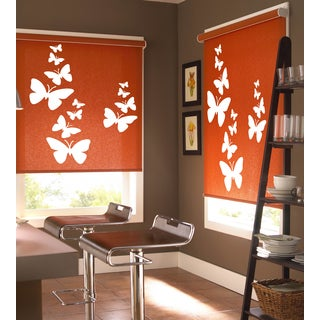 flying butterfly Wall Art Sticker Decal White