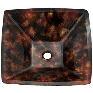 Hayward Black/Brown Glass Vessel Sink With Pop-up Drain