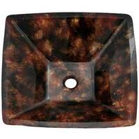 Hayward Black/Brown Glass Vessel Sink With Pop-up Drain