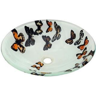 Butterfly Vessel Sink with Pop-up Drain