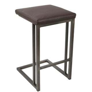 Brown Metal and Wood Counter Stools (Set of 2)