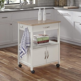 The Banner White Wooden Kitchen Cart by Home Styles