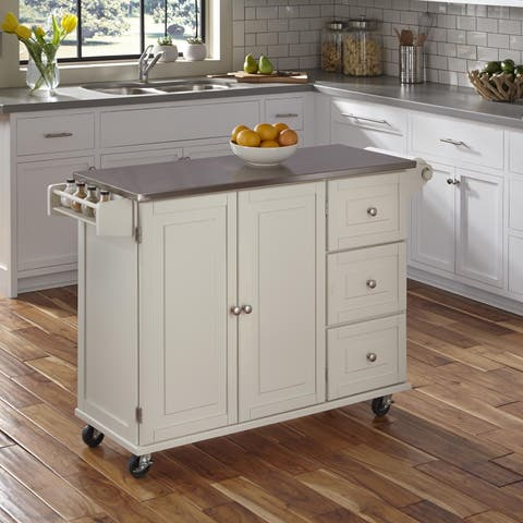 Liberty Kitchen Cart with Stainless Steel Top by Home Styles