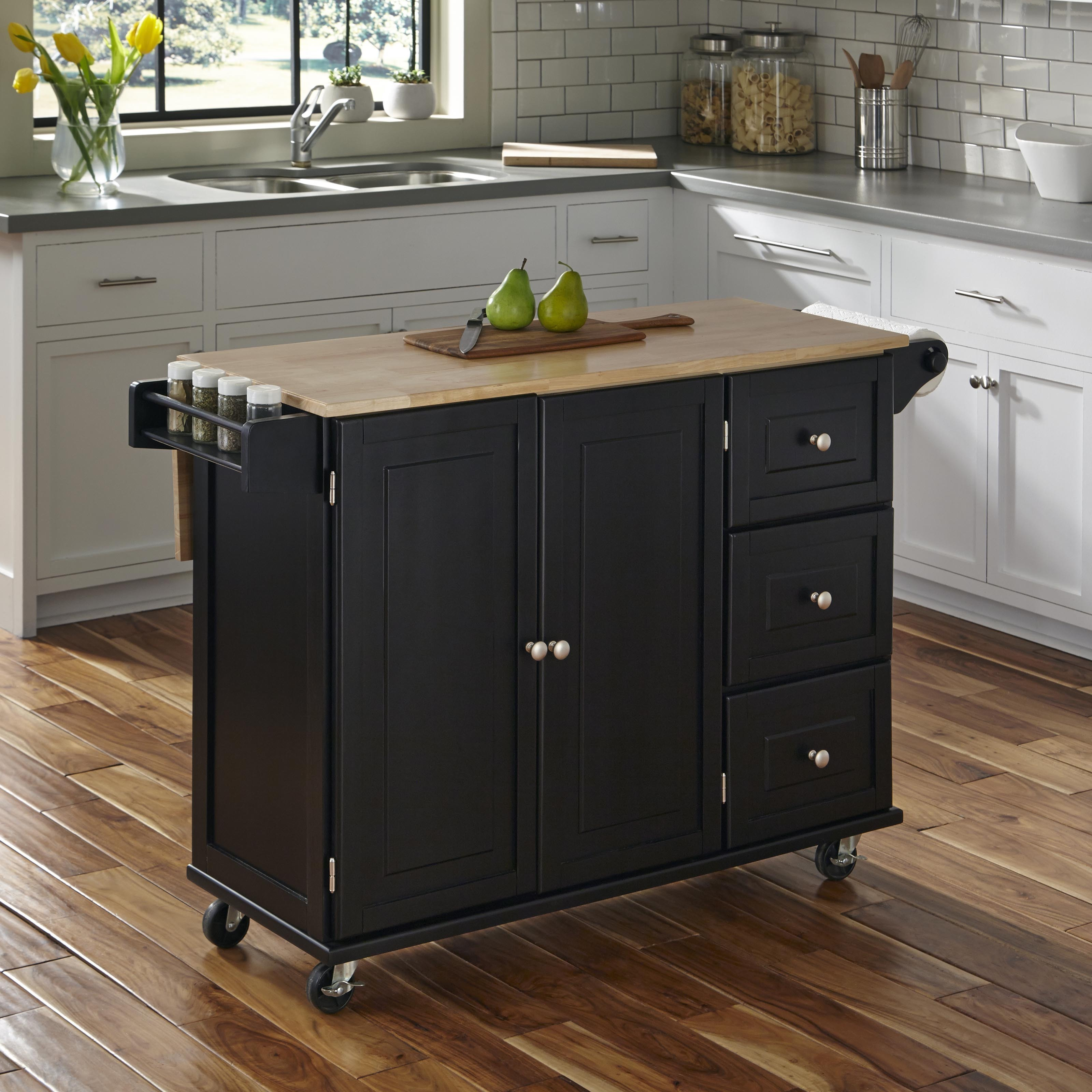 Marvelous Liberty Kitchen Cart With Wood Top By Home Styles