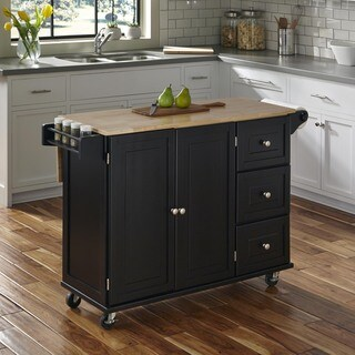Liberty Kitchen Cart with Wood Top by Home Styles