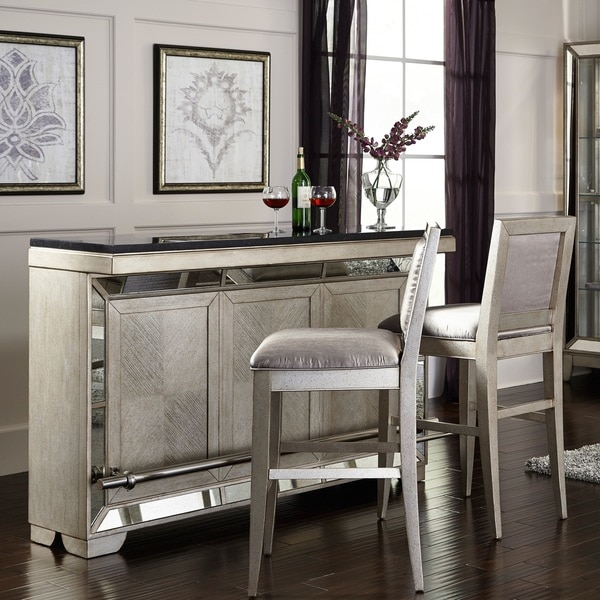 Shop Celine Silver Gold Finish Wood And Stone Bar Free