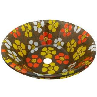 Salano Brown Glass Vessel Sink