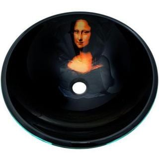 Mona Lisa Vessel Sink with Pop-up Drain