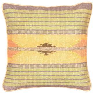eCarpetGallery Ottoman Handmade Beige/Blue Wool Kilim Cushion Cover (1'5 x 1'5)