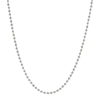 Pori Italian Sterling Silver Bead Diamond Cut Chain Necklace