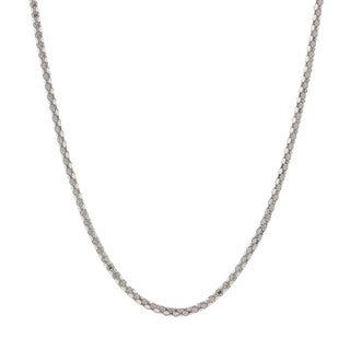 Pori Italian Sterling Silver Diamond-cut Coreana Chain Necklace