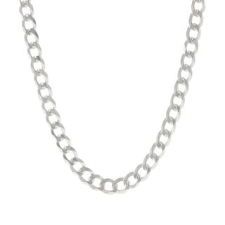 Pori Italian Sterling Silver Curb Chain Necklace