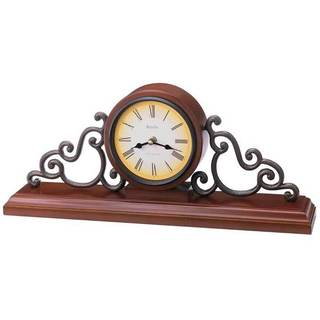 Bulova B1910 Strathburn Solid Wood Analog Quartz Harmonic Mantel Clock