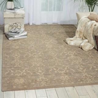 Nourison Silk Elements Sand Rug - 7'9 x 9'9