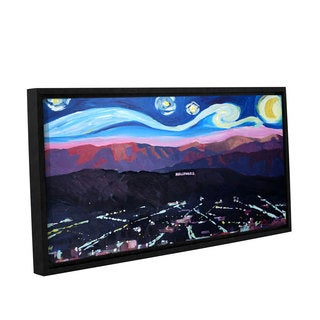 Marcus/Martina Bleichner's 'Starry Night In Hollywood' Gallery Wrapped Floater-framed Canvas