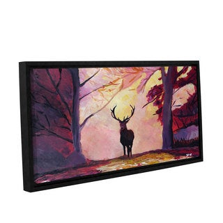 Marcus/Martina Bleichner's 'The Deer Coming From The Glade' Gallery Wrapped Floater-framed Canvas